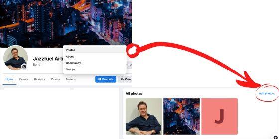 Facebook photos and videos