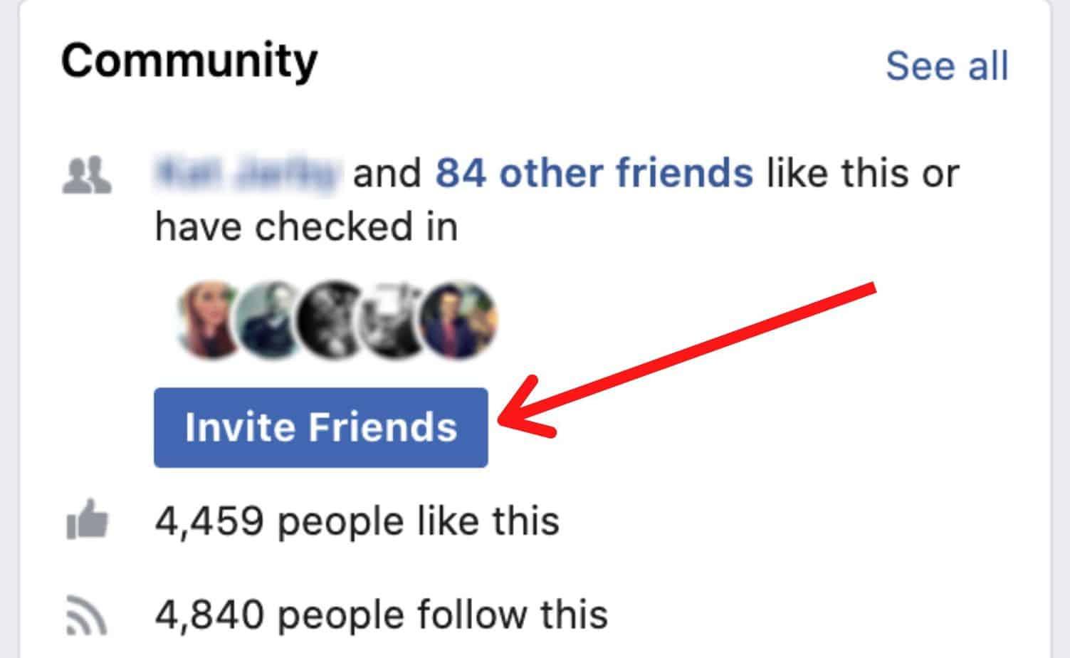 Invite friends on Facebook