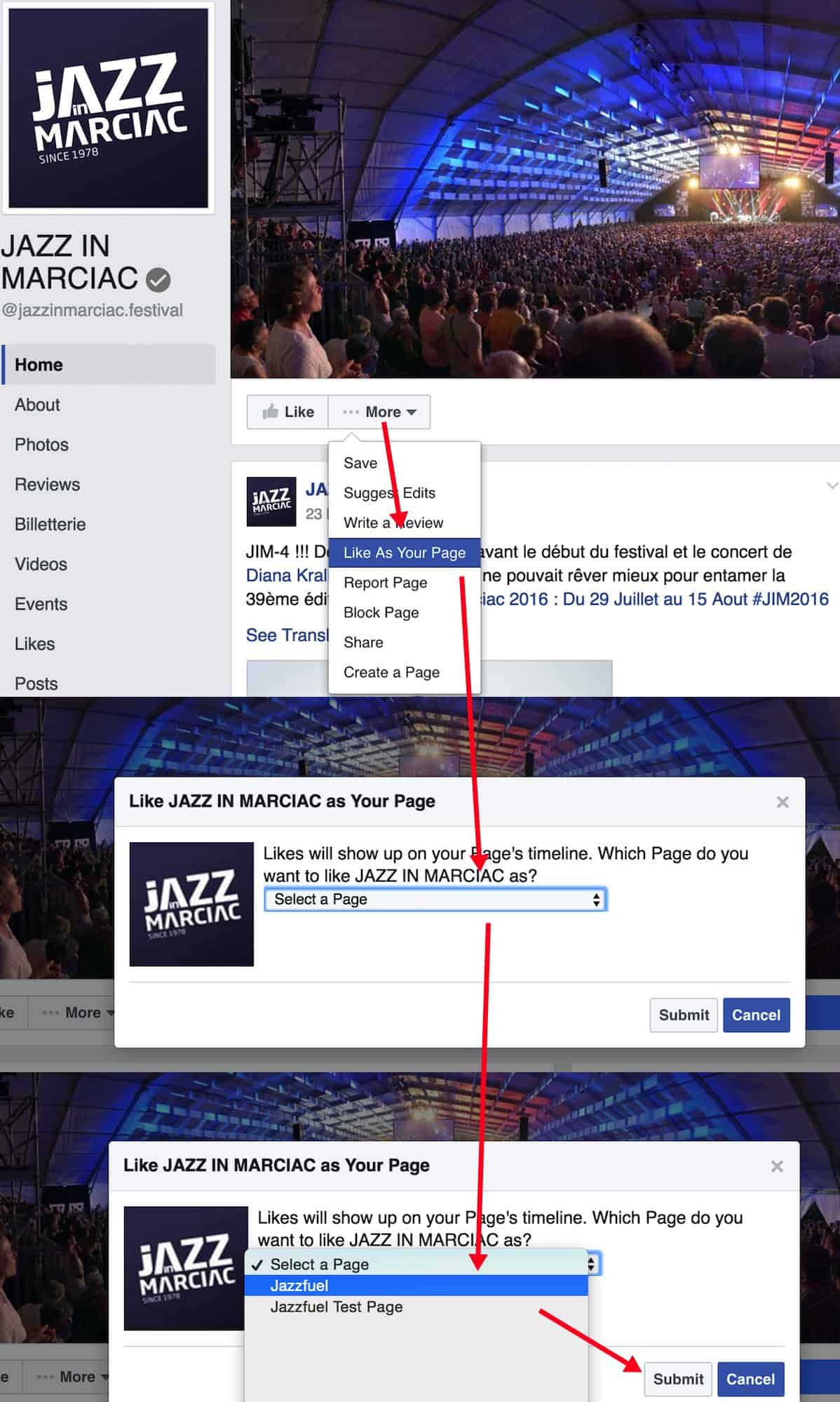 Liking as a Page for Facebook Boost
