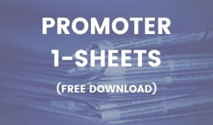 jazz promoter one-sheets