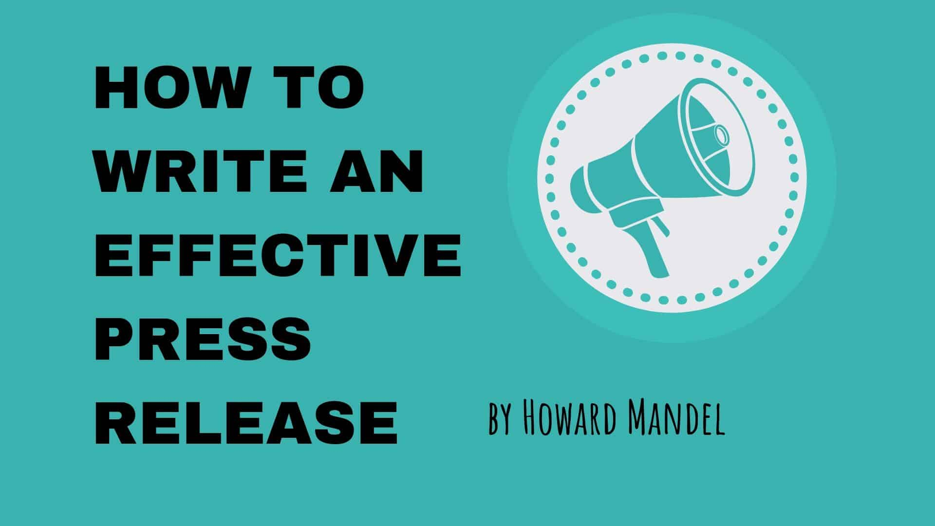 How to write an effective music press release
